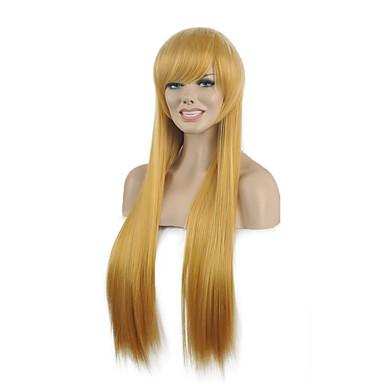 beliebt gerade blonde Partei Farbe Frau synthetische Perücken