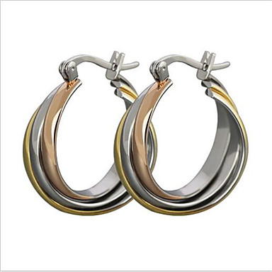 Ohrring Ovale Form Schmuck 1 Paar Modisch Party / Alltag / Normal Titanstahl Damen Silber