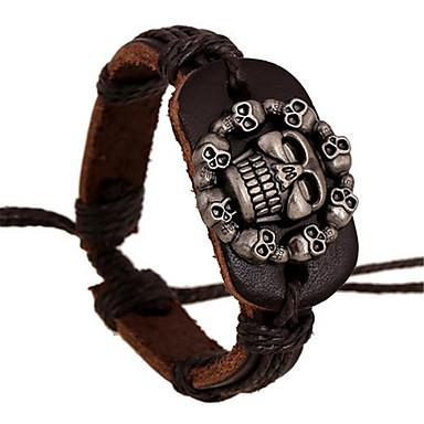 Bracelet Bracelets en cuir Alliage / Cuir Mariage / Soirée / Quotidien / Décontracté / Sports Bijoux Cadeau Brun,1pc