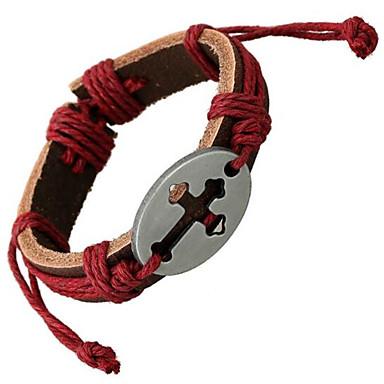 Homme Femme Bracelets en cuir Cuir Alliage Bijoux Pour Mariage Soirée Quotidien Décontracté Sports