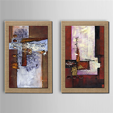 Handgemalte Fantasie Vertikal, Modern Segeltuch Hang-Ölgemälde Haus Dekoration Zwei Panele