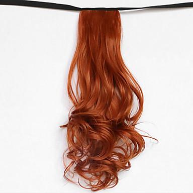 onda de água loira tipo de curativo sintético rabo de cavalo peruca de cabelo vermelho (cor 119)