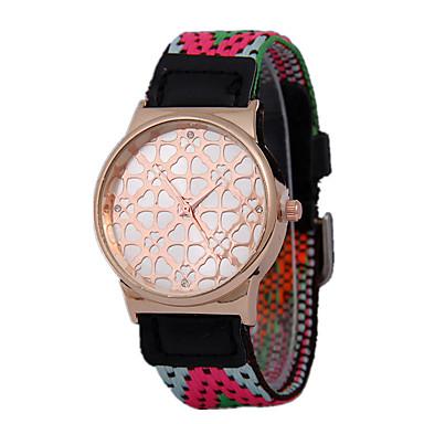 Herren Modeuhr Quartz Armbanduhren für den Alltag Stoff Band Mehrfarbig Marke-