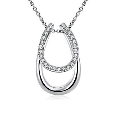 Femme Collier court /Ras-du-cou Pendentif de collier Colliers Déclaration Forme Géométrique Argent sterling Simple Style Personnalisé