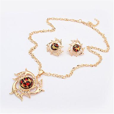 Schmuckset Halskette / Ohrringe Modisch Europäisch Golden Halsketten Ohrringe Für Party Alltag Normal 1 Set Hochzeitsgeschenke