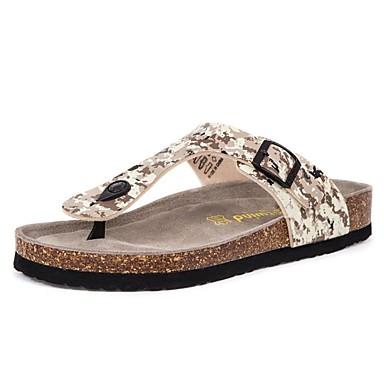 Hombre Zapatos Cuero Primavera / Verano / Otoño Confort Tacón Plano Blanco