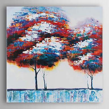 יד צבעוני מופשט נוף ציור שמן ציירה עצים-ⅱ עם arts® קיר מסגרת 7 נמתח