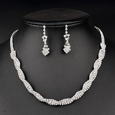 Damen Schmuckset Kristall Brautkleidung Modisch Hochzeit Party Besondere Anlässe Jahrestag Geburtstag Geschenk Strass Ohrringe Halsketten