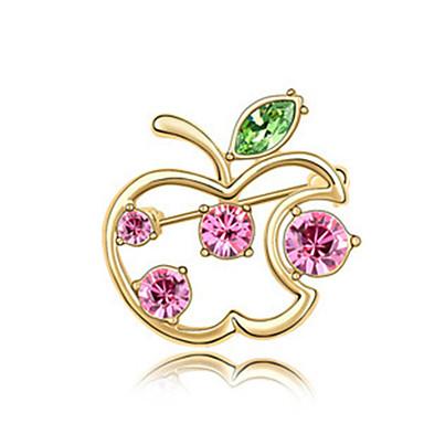 hochwertigen Kristall Apfel Brosche für die Hochzeit Partei Dame