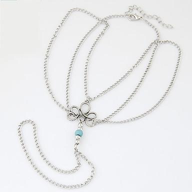 תכשיט לקרסול/צמידים Others עיצוב מיוחד אופנתי סגסוגת כסף נשים תכשיטים 1pc