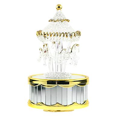 Caixa de música Brinquedos Pato Forma Cilindrica Piano Cavalo Carrossel Peças Para Meninos Para Meninas Aniversário Dia dos namorados Dom