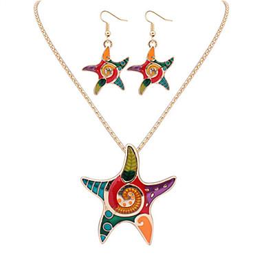 Damen Schmuck-Set Ohrringe Halsketten - Niedlich Büro Modisch Europäisch Silber Golden Schmuckset Halskette / Ohrringe Für Party Alltag
