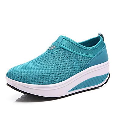 נשים נעליים טול אביב קיץ סתיו נוחות כושר וחיטוב פלטפורמה עבור אתלטי קזו'אל שחור אפור אדום כחול