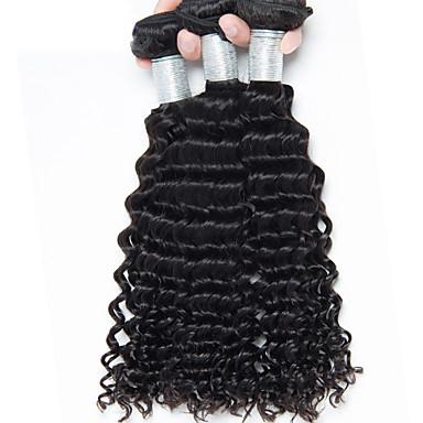 Человека ткет Волосы Бразильские волосы Естественные волны 3 предмета волосы ткет