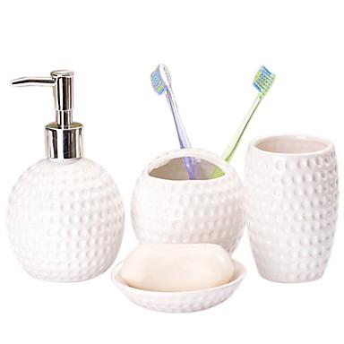 simple, motif décoratif visage souriant salle de bains quatre costume de pièce