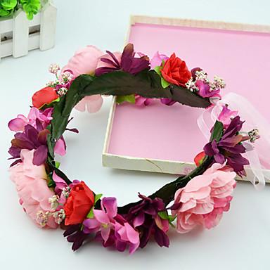 Damen Blumenmädchen Stoff Kopfschmuck-Hochzeit Besondere Anlässe Freizeit im Freien Kränze 2 Stück