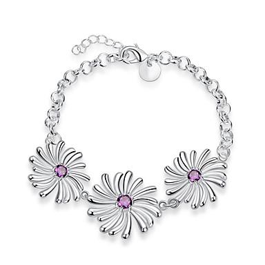 Damen Ketten- & Glieder-Armbänder Simple Style Zirkon versilbert Silber Purpur Schmuck Für Hochzeit Party Alltag Normal 1 Stück