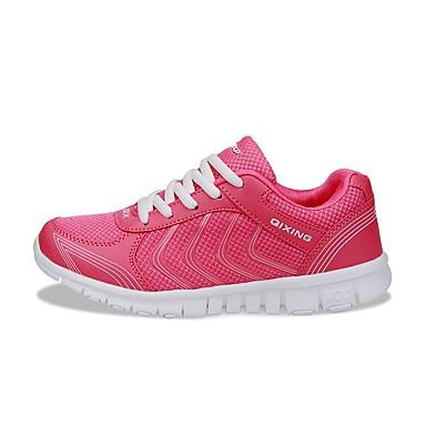 FemininoPlataforma Conforto-Rasteiro Plataforma-Azul Vermelho Branco Fúcsia-Couro Ecológico-Escritório & Trabalho Casual Para Esporte