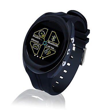 Bluetooth3.0 iOS Android Hands-Free Calls Media Control Message Control Camera IP54 Water Resistant Smartwatch