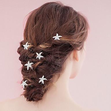 Perla Para la Cabeza / Hair Stick / Pin de pelo con Flor 1pc Boda / Ocasión especial Celada