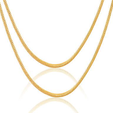 Modische Halsketten Ketten Schmuck Hochzeit / Party / Alltag / Normal / Sport Edelstahl / Aleación / vergoldet Goldfarben 1 Stück Geschenk