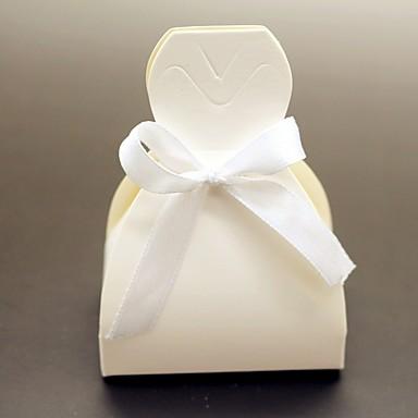 12pcs חתונה טובה תיבת - כרטיס נייר טובה תיבות הכלה החתונה השמלה החתונה תפאורה לא מותאמת אישית