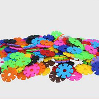 blocos floco de neve, educação infantil brinquedo educativo para crianças, iluminação quebra-4,3 centímetros, 500 peças