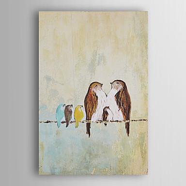 handgemaltes Ölgemälde Tier Familie der Vögel mit gestreckten Rahmen 7 Wand ARTS®
