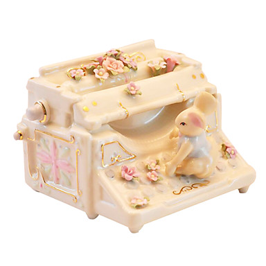 Keramik gelben kreative romantische Musik-Box für Geschenk