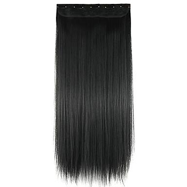 paróka fekete 60cm magas hőmérsékletű vezeték hossza egyenes haj szintetikus póthaj