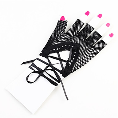 Tanz Accessoires Tanz-Handschuhe Damen Leistung Nylon / Elasthan Spitze / Vorne geschlitzt / Überkreuzte Rüschen Handschuhe / Aufführung