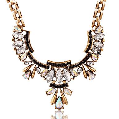נשים שרשראות תליון קריסטל אבן נוצצת סגסוגת אופנתי זהב תכשיטים חתונה Party יומי קזו'אל 1pc