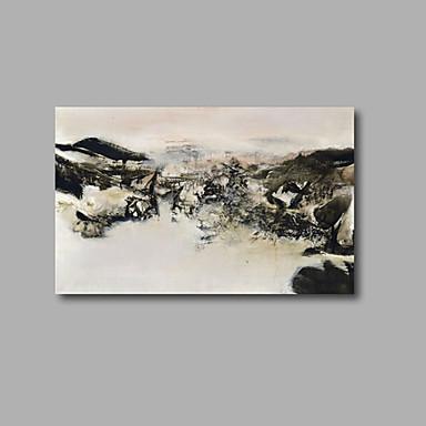 Peint à la main Abstrait / Paysage Peintures à l'huile,Modern Un Panneau Toile Peinture à l'huile Hang-peint For Décoration d'intérieur
