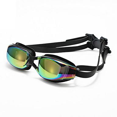 Svømmebriller Justerbar Størrelse / Anti-Skli Stropp PU PC Svart Svart