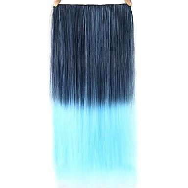 egyenes kék színes emberi haj csipke paróka 1t4516