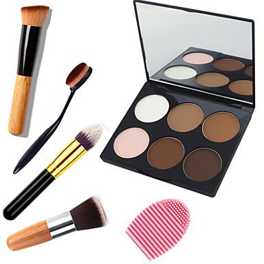 6 farger Pudder Presset pudder Highlighters og bronzers Tørr / Kombinasjon / Oljete Vanntett / Pustende / Bleking Øye / Ansikt Kina Speil Sminke kosmetisk