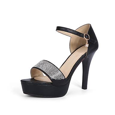 Femme Chaussures Paillette Similicuir Printemps Eté Automne Bride de Cheville Talon Aiguille Plateau Paillette Brillante Boucle Pour