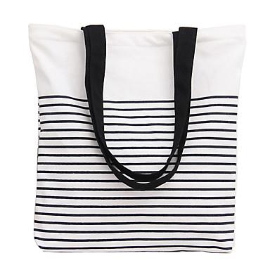 Damen Taschen Leinwand Aufkleber Umhängetasche für Einkauf Normal Ganzjährig Schwarz Rot