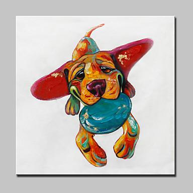 lager pintado à mão resumo pintura a óleo animal em canvas fotos de cães arte de parede para decoração de casa quadro de branco