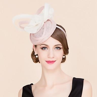 voordelige Hoeden-Vlas / Zijde Kentucky Derby Hat / hatut met 1 Bruiloft / Speciale gelegenheden  / Causaal Helm