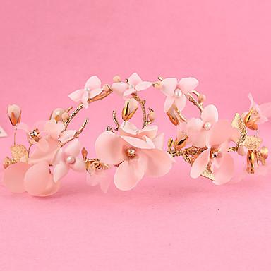 Damen Blumenmädchen Legierung Stoff Kopfschmuck-Hochzeit Besondere Anlässe im Freien Kränze 1 Stück