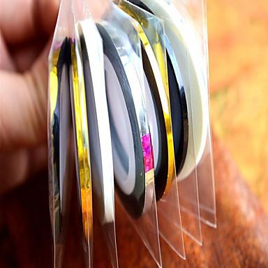 1 נייל ארט מדבקה מופשט (אבסטרקטי) חמוד חתונה קוסמטיקה איפור נייל אמנות עיצוב