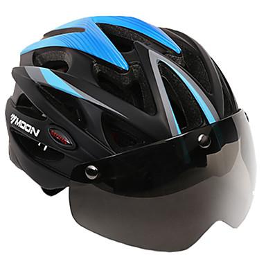 MOON kerékpáros sisak 25 Szellőzőnyílás CE Tanúsítvány Állítható, Városi, Hegy EVA, PC, EPS Országúti biciklizés / Szórakoztató