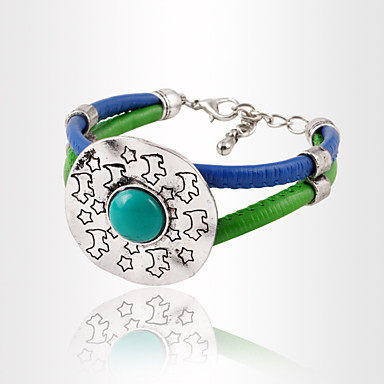 Damen Armbänder Kette Alluminium Türkis