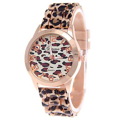 Damen Uhr Armbanduhr Quartz Silikon Braun Armbanduhren für den Alltag Analog damas Leopard Modisch Weiß Kaffee / Ein Jahr / Ein Jahr / Tianqiu 377