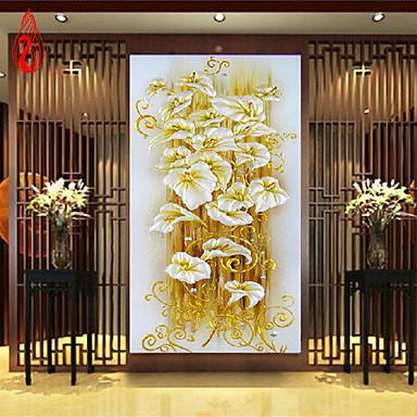 diy 5d pintura de cristal de diamante flor de lírio ponto cruz decorativo diamante agulha mosaico 100 * 50 centímetros