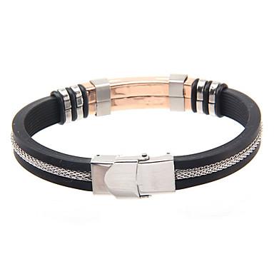 Homme Bracelets Rigides Mode Cuir Acier au titane Bijoux Pour Quotidien Décontracté 1pc