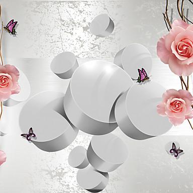 Fleur Décoration d'intérieur Moderne Revêtement, Toile Matériel adhésif requis Mural, Couvre Mur Chambre