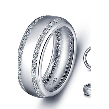 Ringer,Sølv Kubisk Zirkonium Mote / Vintage Bryllup / Party / Daglig / Avslappet Smykker Dame Midiringe 1set,6 / 7 / 8 Sølv