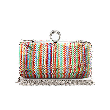 L.WEST Women's Weaving Evening Bag